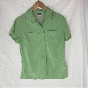 The North Face women's button-down short-sleeve